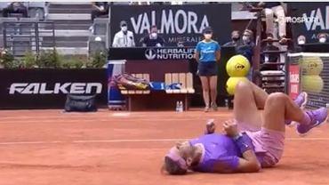 Nadal podczas meczu ze Zverevem w ATP Rzym