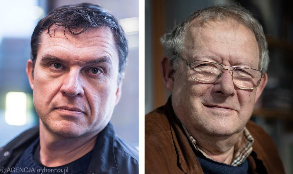 Andrzej Poczobut i Adam Michnik
