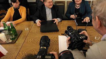 Ojciec dyrektor Tadeusz Rydzyk podczas posiedzenia sejmowej Komisji administracji i cyfryzacj