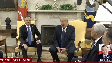 Donald Trump i Andrzej Duda w Białym Domu