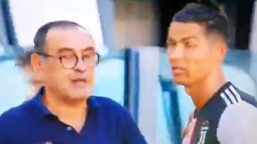 Cristiano Ronaldo reaguje na instrukcje Maurizio Sarriego