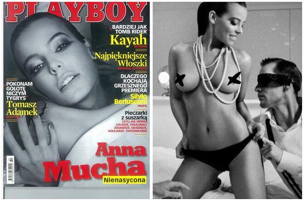 Anna Mucha pojawiła się na okładce 'Playboya' w 2009 roku. Wzięła udział w gorącej sesji i pokazała naprawdę wszystko. Pojawiła się całkowicie naga w towarzystwie mężczyzn. Te zdjęcia na pewno zaparły dech niejednemu mężczyźnie.