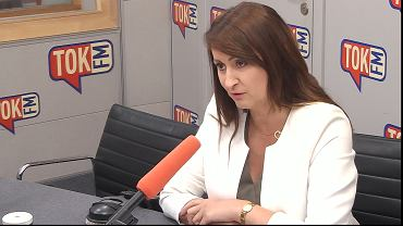 Renata Kaznowska w studiu TOK FM
