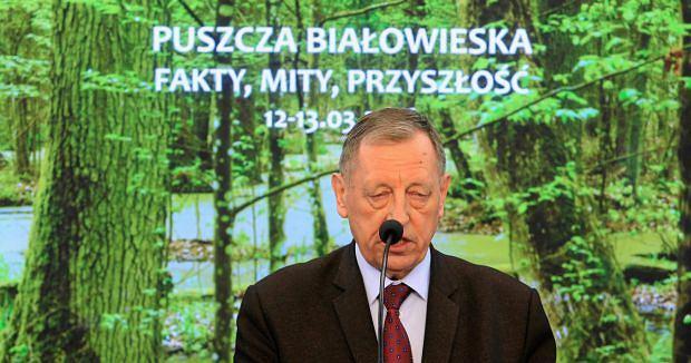 Min, Jan Szyszko podczas konferencji prasowej w Sejmie