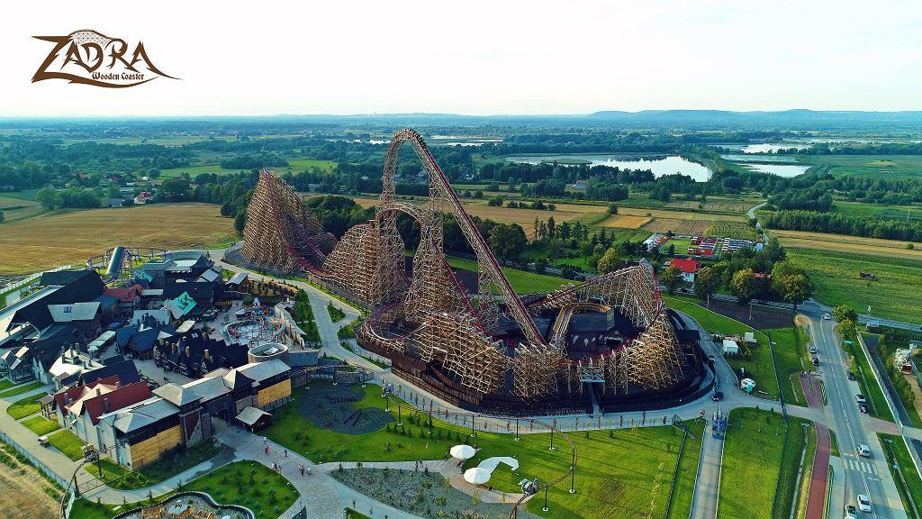 Zadra jest najwyższym drewnianym roller coasterem na świecie