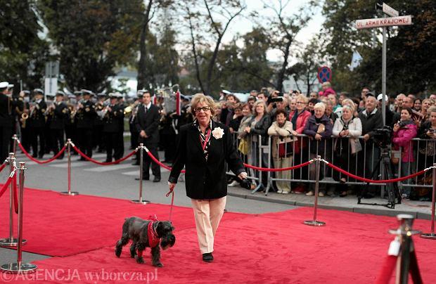 Festiwal Filmowy w Gdyni. Gala otwarcia. Zofia Czerwińska co roku przyjeżdża do Gdyni z psem