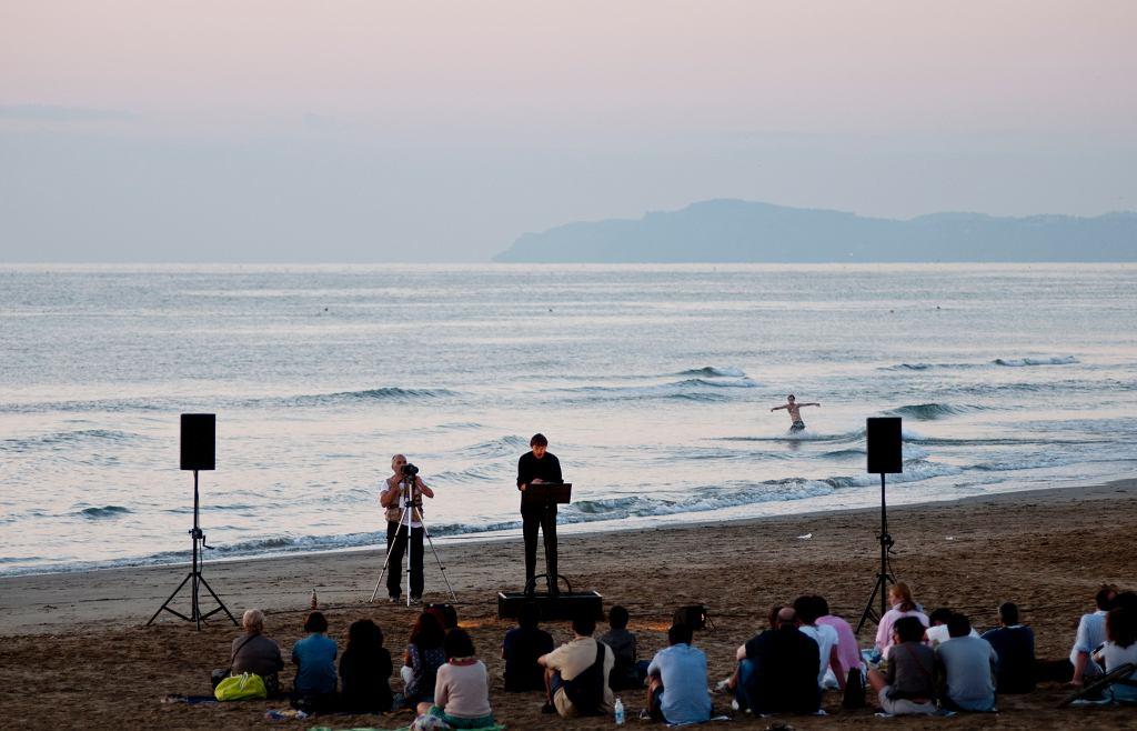 Koncert na plaży podczas Festiwalu Notte Rosa