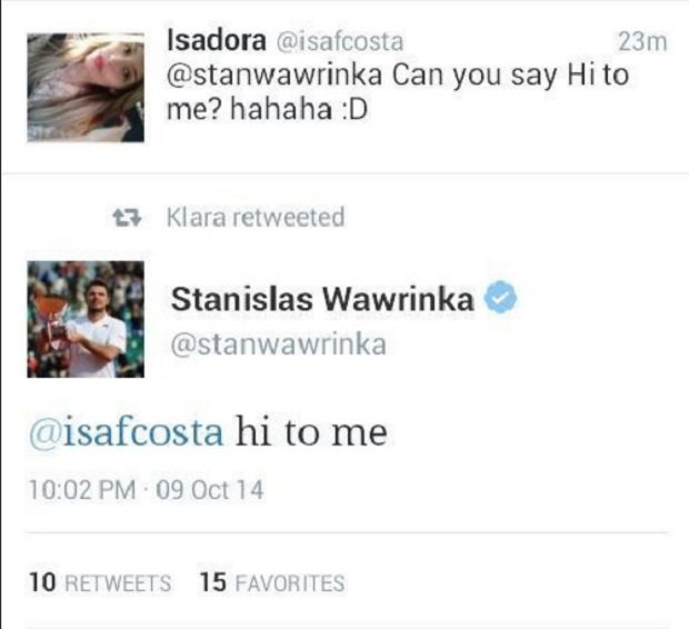 Stan Wawrinka tweets