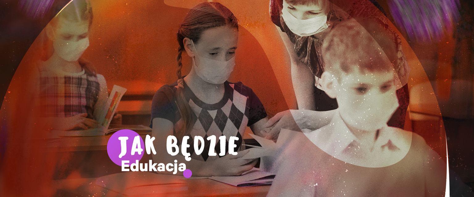 1 września dzieci wracają do szkół. Co dalej z polską szkołą? O tym rozmawiamy z ekspertami w nowym cyklu Gazeta.pl Jak będzie (Grafika: Marta Kondrusik, zdjęcie: Shutterstock.com)