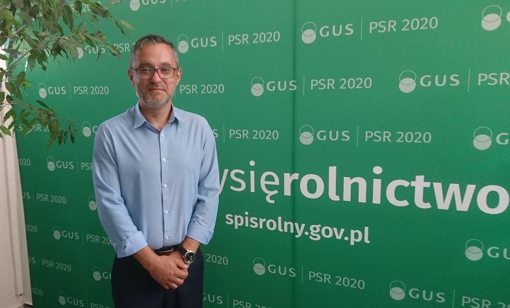Robert Wróbel, zastępca dyrektora Urzędu Statystycznego w Zielonej Górze