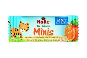 Ekologiczna nowość marki HOLLE - owocowe BIO Batoniki Minis bananowo-pomarańczowe - naturalnie słodka przekąska bez dodatkowego cukru i sztucznych dodatków