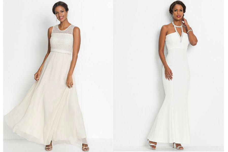 Suknie wieczorowe białe długie