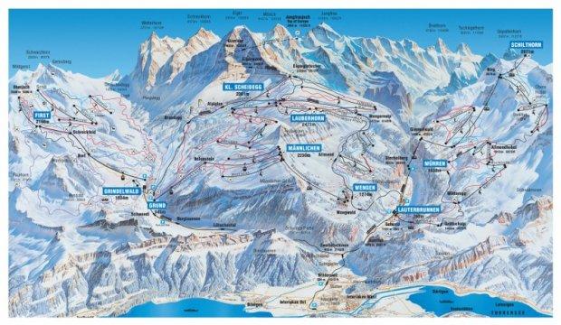 Mapka tras narciarskich