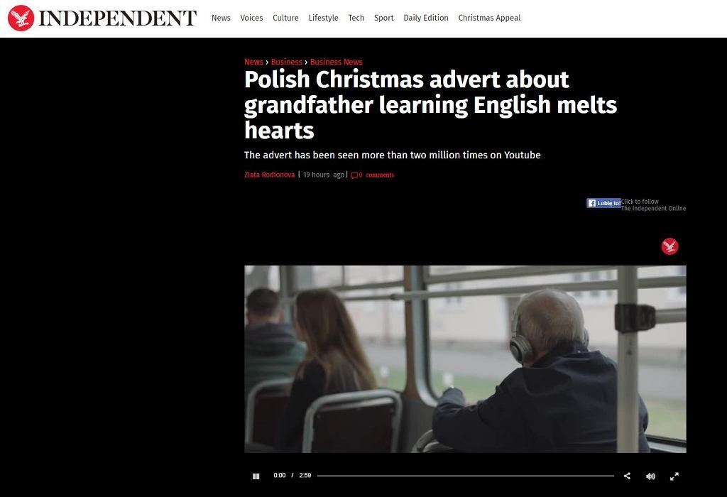 Nagłówek  Independent.co.uk