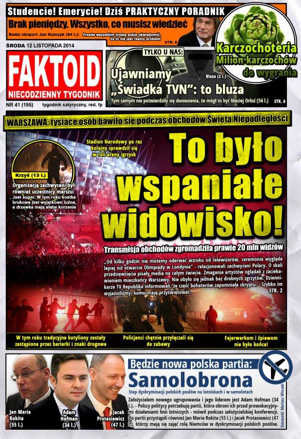 Faktoid, 12 listopada 2014, nr 41 (195) -  - Faktoid