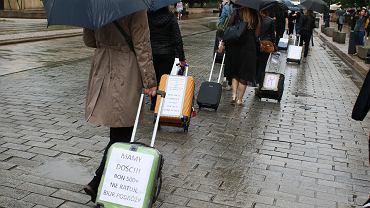 Protest branzy turystycznej w Warszawie