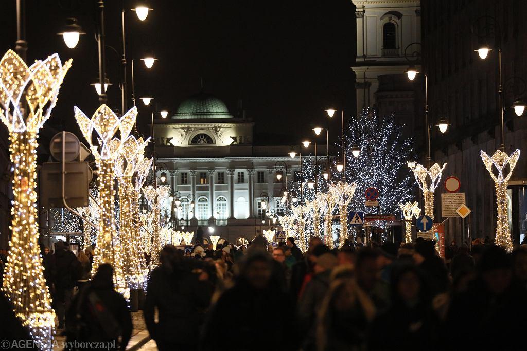 Boże Narodzenie. Dekoracje świąteczne w Warszawie