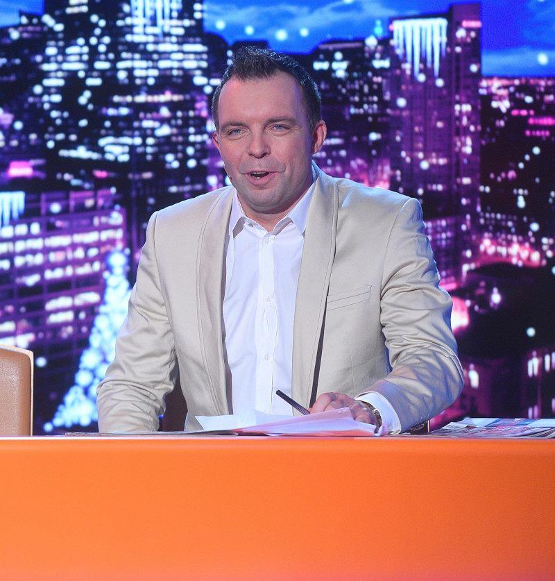 Marcin Wójcik w 'Latającym Klubie Dwójki' w 2015 roku.