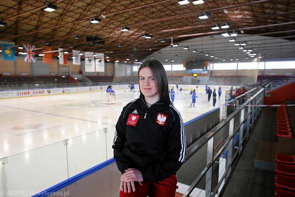 Mistrzostwa świata juniorek w hokeju w Katowicach. Wiktoria Gogoc