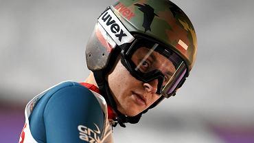 Klemens Murańka podczas zawodów Pucharu Świata w Wiśle w 2019 r.