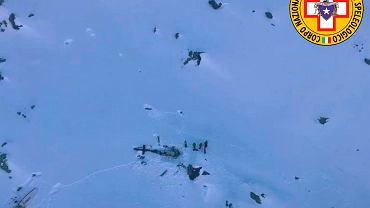 Alpy. Katastrofa samolotu we Włoszech