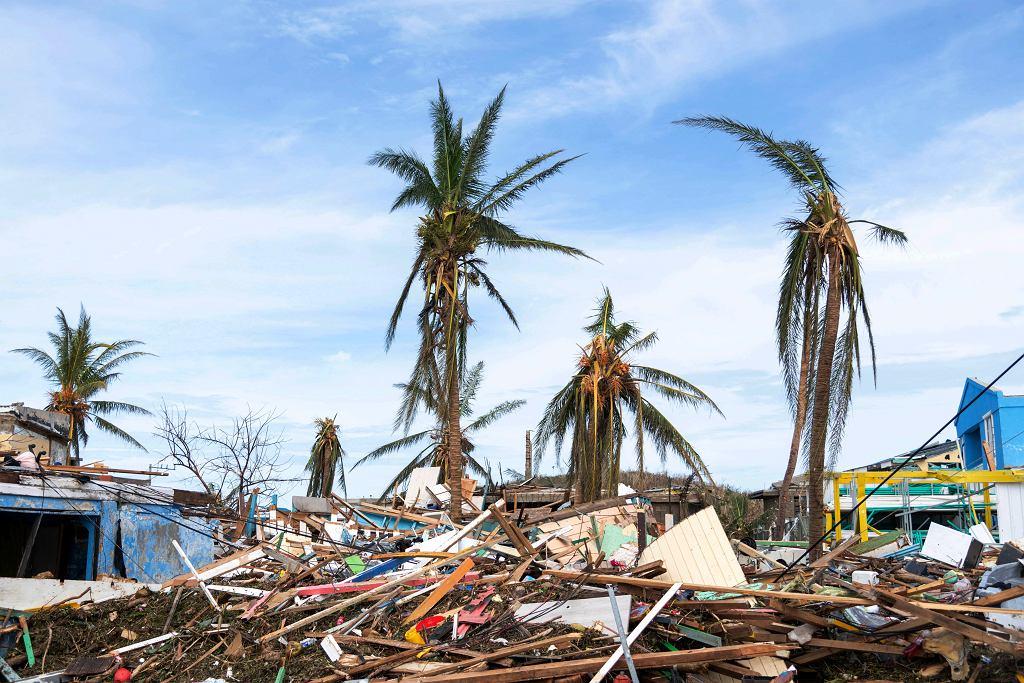 Domy zniszczone przez huragan Iota w Kolumbii.