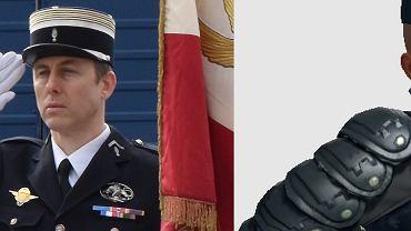 Po lewej Arnaud Beltrame, po prawej jego podobizna w CS:GO.