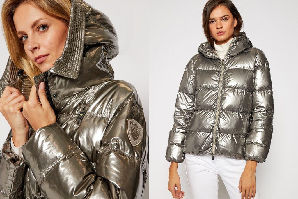 Metaliczna kurtka na zimę