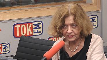 Ewa Junczyk-Ziomecka w studiu TOK FM.