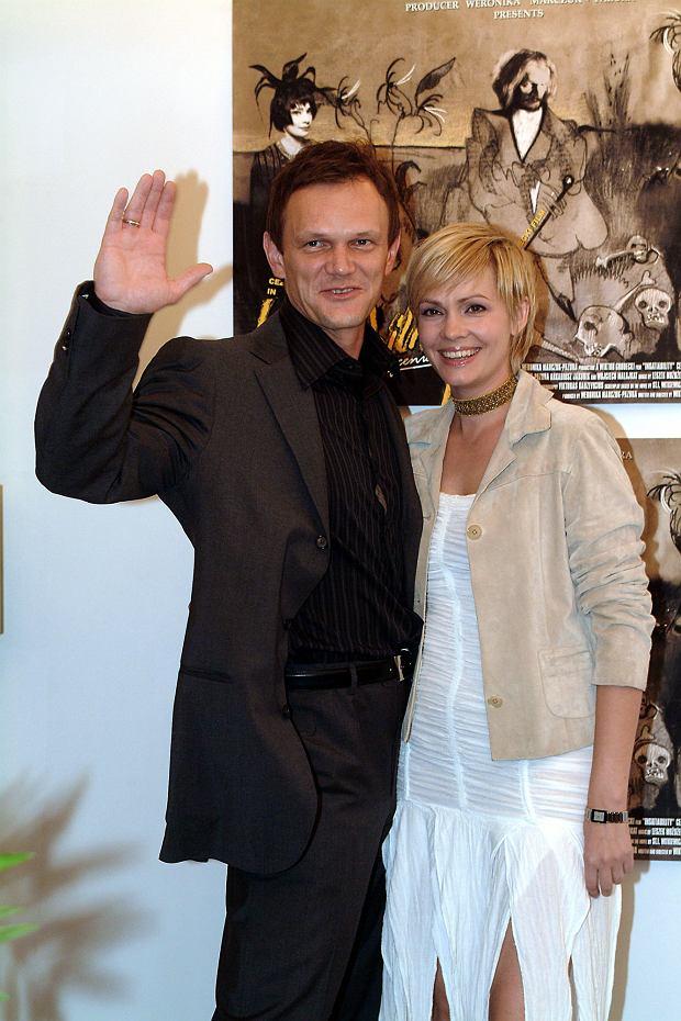 Weronika Marczuk i Cezary Pazura