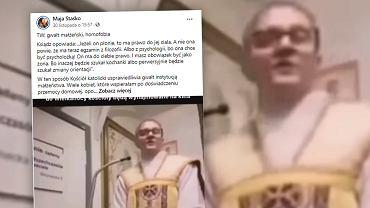 Do sieci trafiło nagranie z księdzem, który mówi o prawie męża do ciała żony. 'Jeżeli on płonie, to ma prawo do jej ciała'