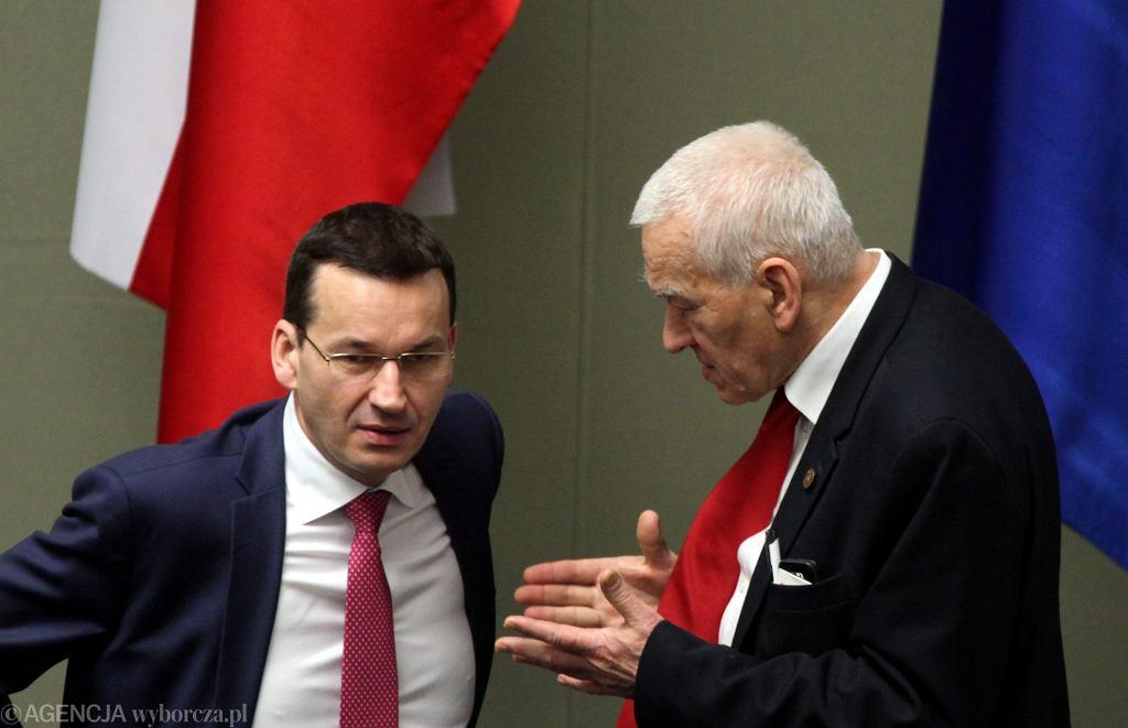 Mateusz i Kornel Morawieccy w Sejmie.