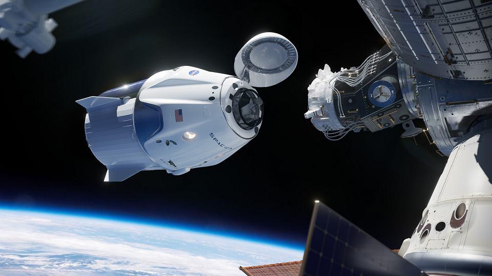 Dragon cumuje do Międzynarodowej Stacji Kosmicznej - wizja artystyczna