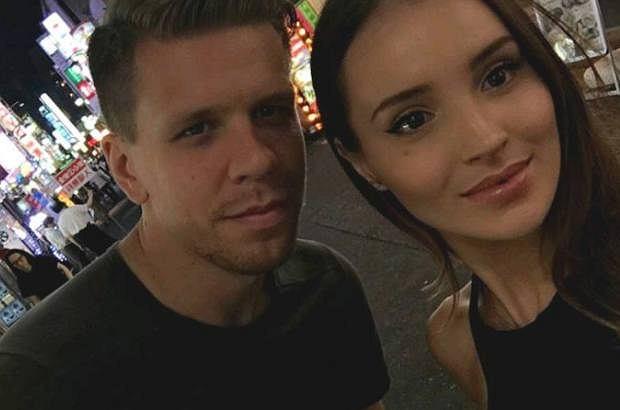 Wojciech Szczęsny i Marina Łuczenko-Szczęsna
