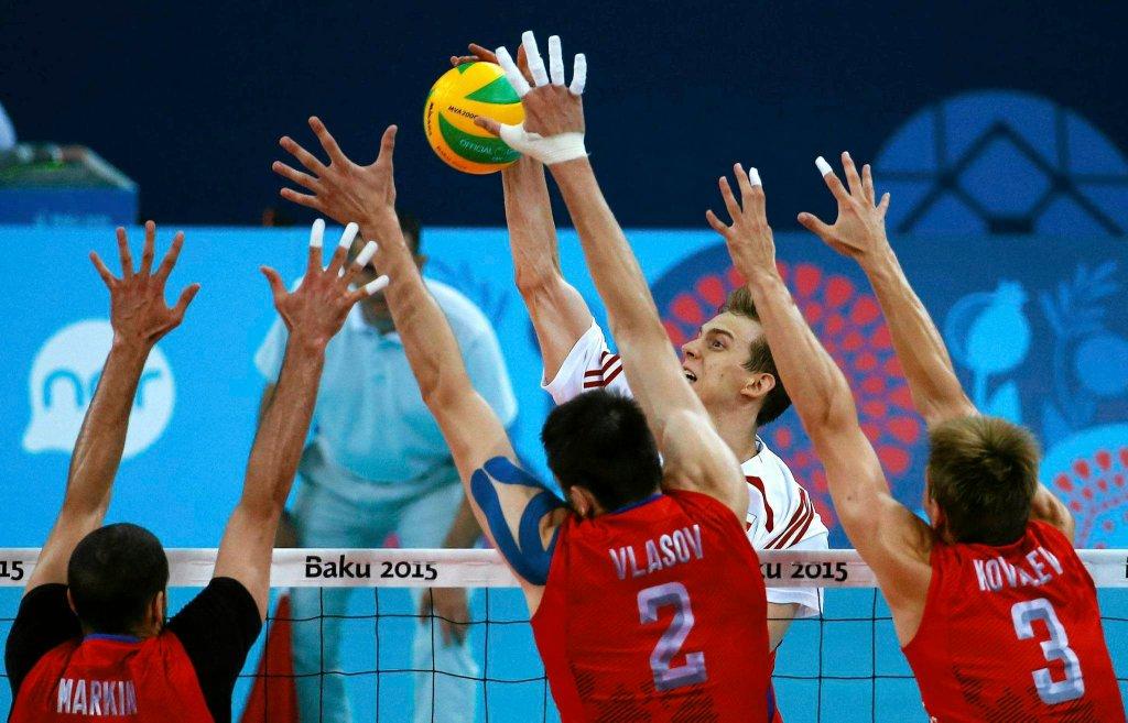 Polska - Rosja 1:3. Aleksander Markin, Ilja Własow i Dimitrij Kowaliew kontra Artur Szalpuk