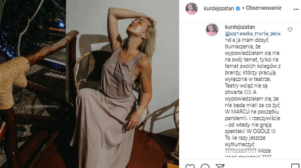 Barbara Kurdej-Szatan odpowiada na zarzut fanki