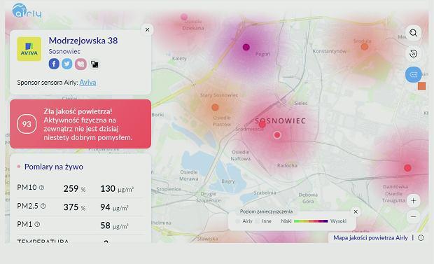 Mapa smogowa Airly - dostępna także jako aplikacja - pozwala sprawdzić jakość powietrza na danym terenie. Aktualną oraz przewidywaną wkrótce. Przez dwa lata istnienia polska firma rozstawiła na terenie kraju 1700 czujników!