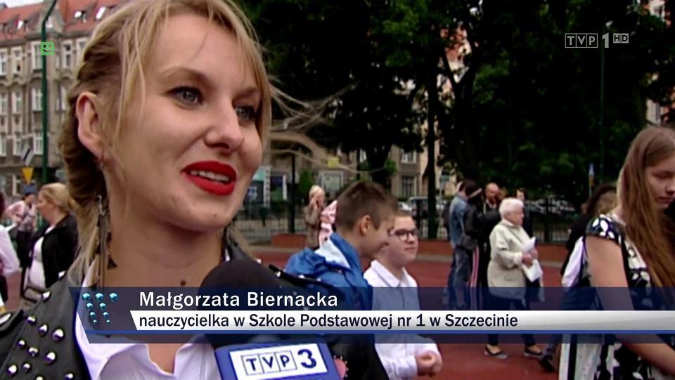 Małgorzata Biernacka, kadr z wydania 'Wiadomości' z 22.03.2019
