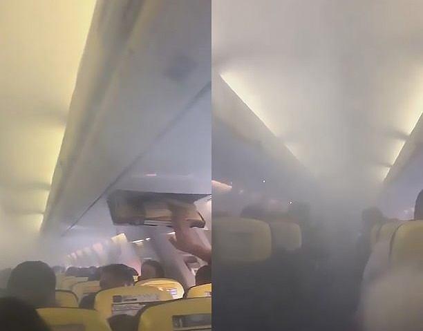 Dym na pokładzie samolotu Ryanair