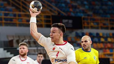 Michał Olejniczak podczas meczu Polska-Brazylia na Mistrzostwach Świata w piłce ręcznej w Egipcie.