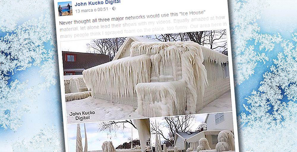 Dom, który wygląda jak lodowa rzeźba