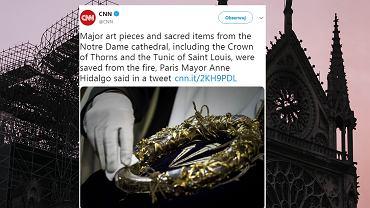 Korona cierniowa ocalała z pożaru katedry Notre Dame w Paryżu