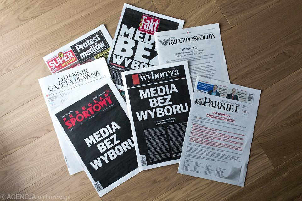 10.02.2021, akcja 'Media bez wyboru'