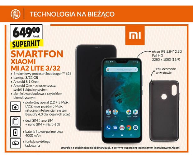 Xiaomi Mi A2 Lite w Biedronce