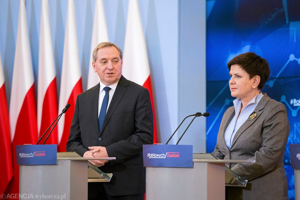 Henryk Kowalczyk i premier Beata Szydło