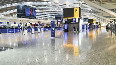 Pusty Terminal 5 Heathrow