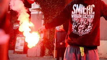 Demonstracja narodowców w Olsztynie