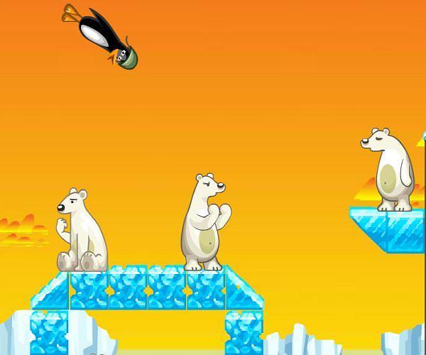 pingwiny atakują