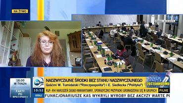 Ewa Siedlecka z Żaczkiem (fot.TVN24)