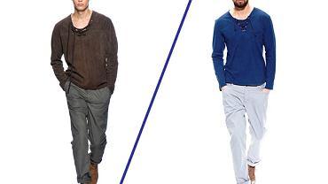 Z kolekcji Bottega Veneta i stylizacja logo: Bluza KappAhl. Cena: 79,90 zł, spodnie z kolekcji Reporter. Cena: 99,90 zł, buty z kolekcji Reserved. Cena: 249 zł
